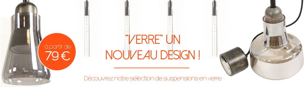 Suspension verre